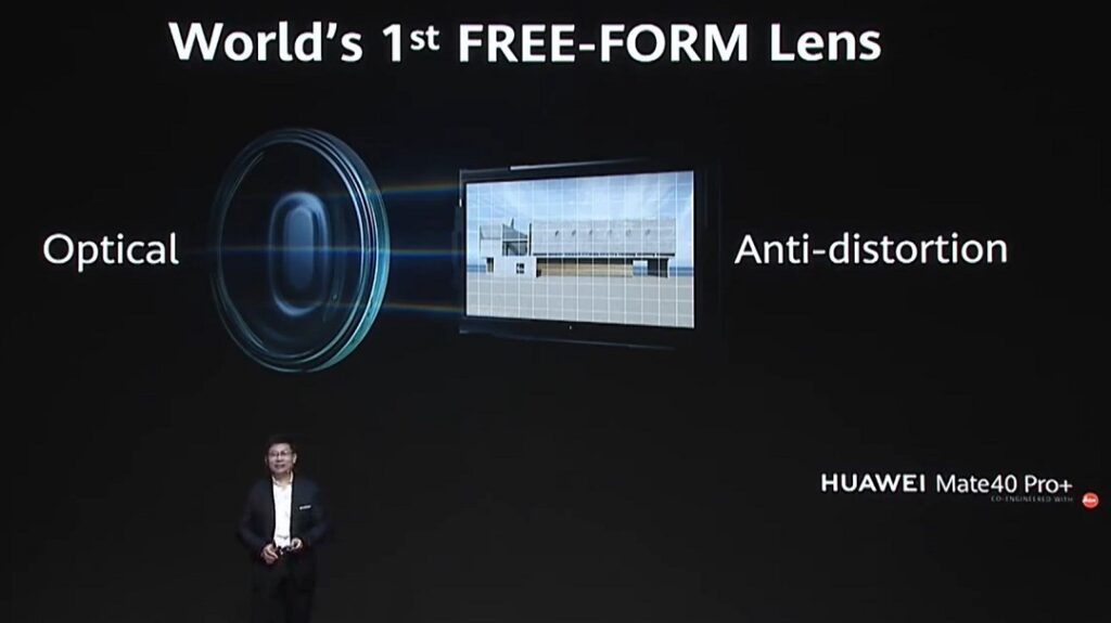 Huawei Mate 40 Pro_plus comes Ultra wide angle lens which has world 1st free form lens