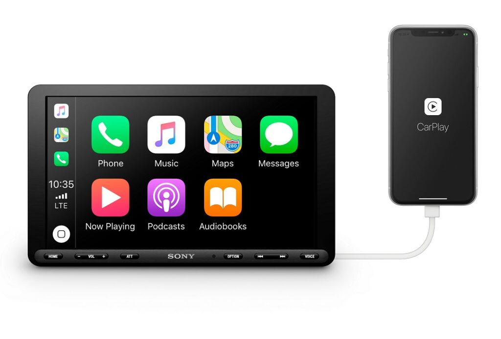 Sony XAV-AX8000_AP,LA_Front_Apple_CarPlay