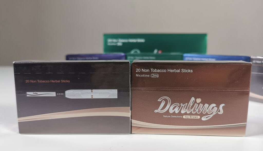 Darlings- NonTobacco Heat Sticks with 2mg Nicotine - Icy Brown flavour