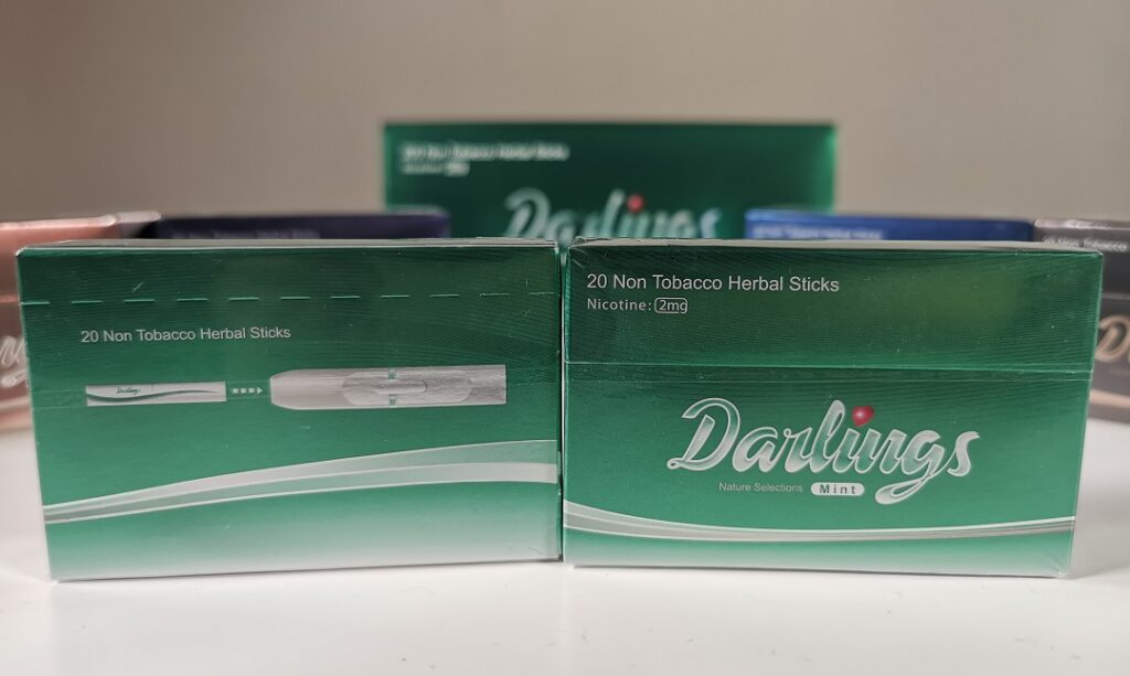 Darlings- NonTobacco Heat Sticks with 2mg Nicotine - Mint flavour