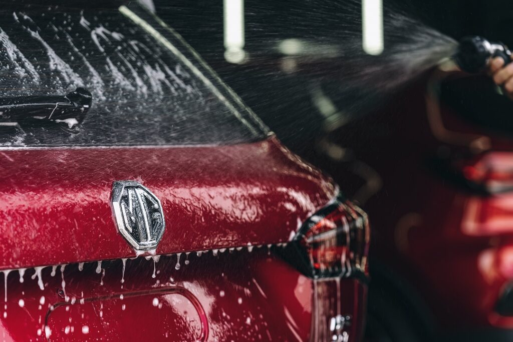 Mg Motor's Car Washing Service Procedure