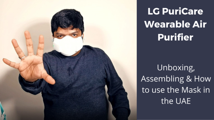 Watch the LG PuriCare Wearable Air Purifier – Unboxing, Assembling & How to use the Mask in the UAE