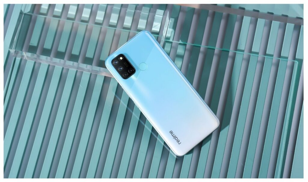 realme 7i phone - Polar Blue