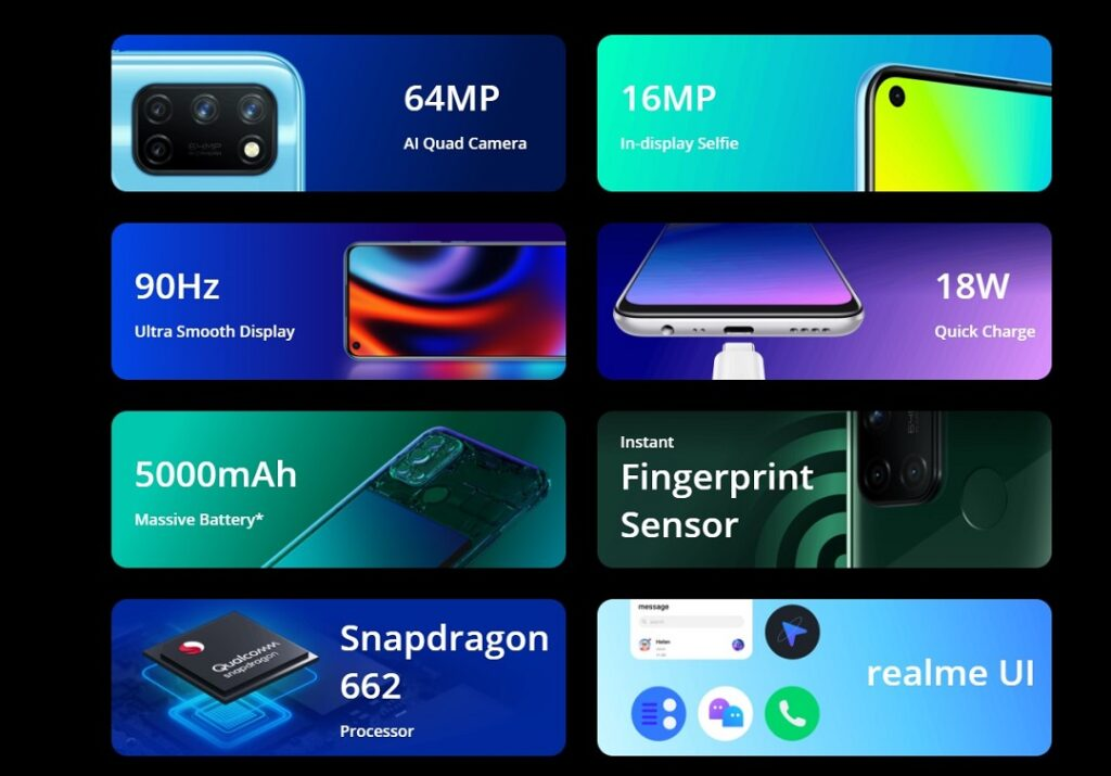 realme 7i phone features