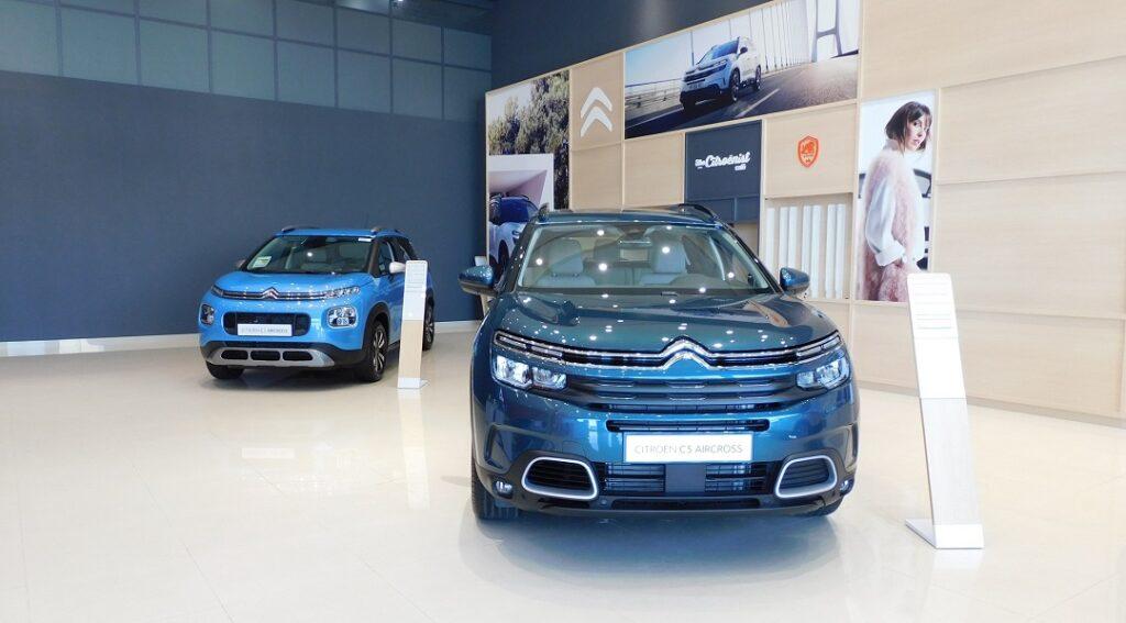 Al Rostamani Trading Company L.L.C-Citroen C3 and C5 in New Dubai Showroom