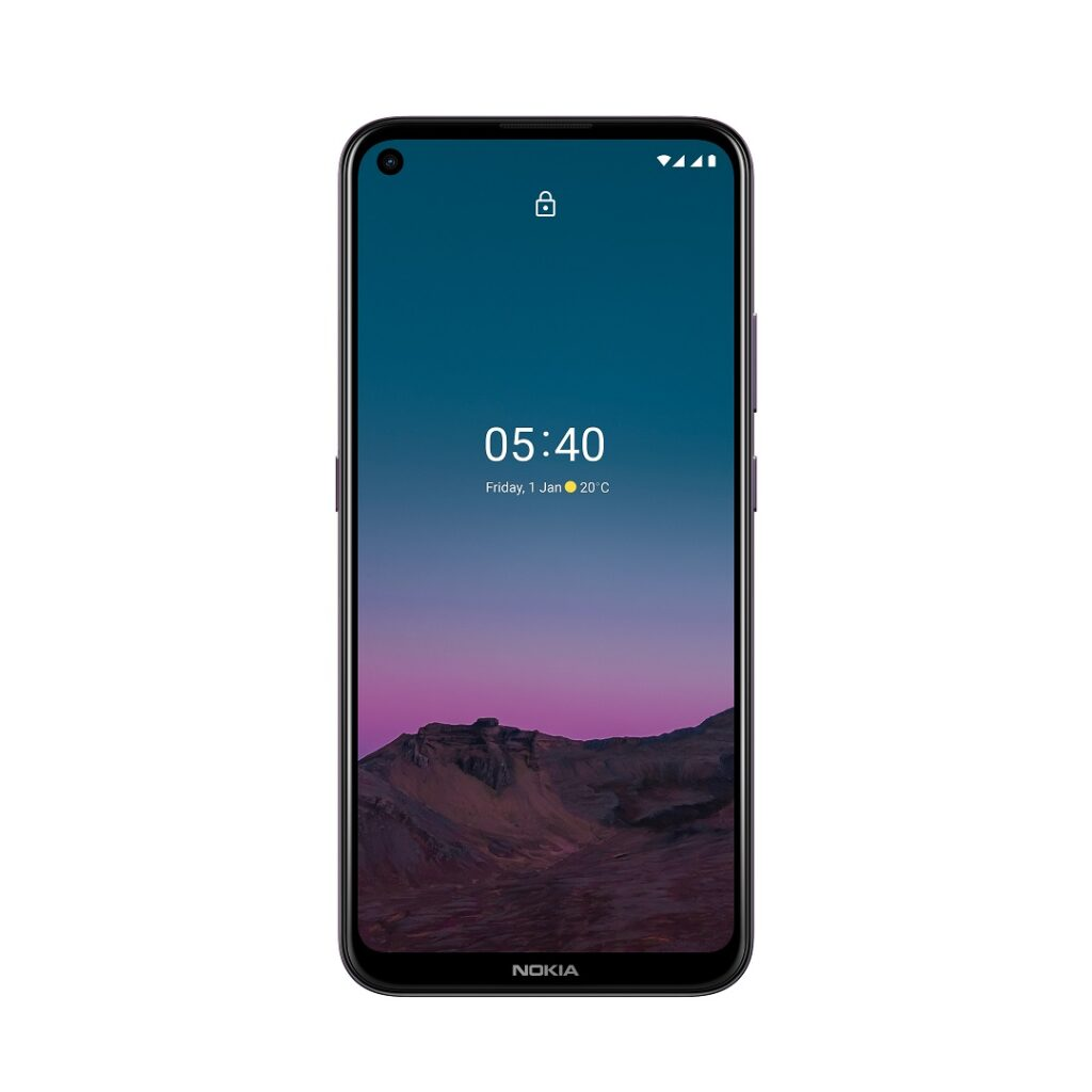 HMD Global - Nokia 5.4 - Front Display & punch-hole display 16MP Selfie camera