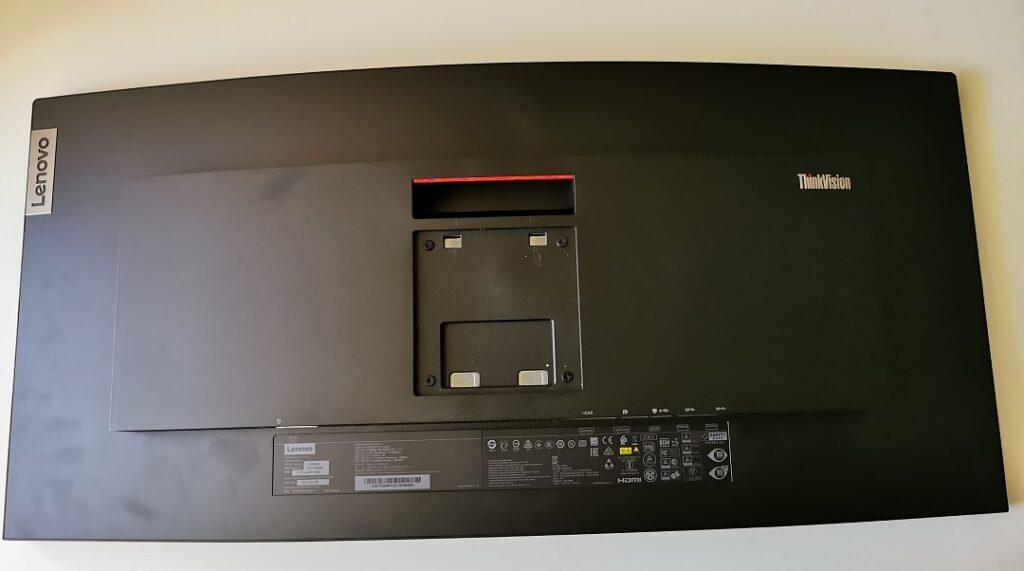 Lenovo ThinkVision T34W-20 Monitor- Back View