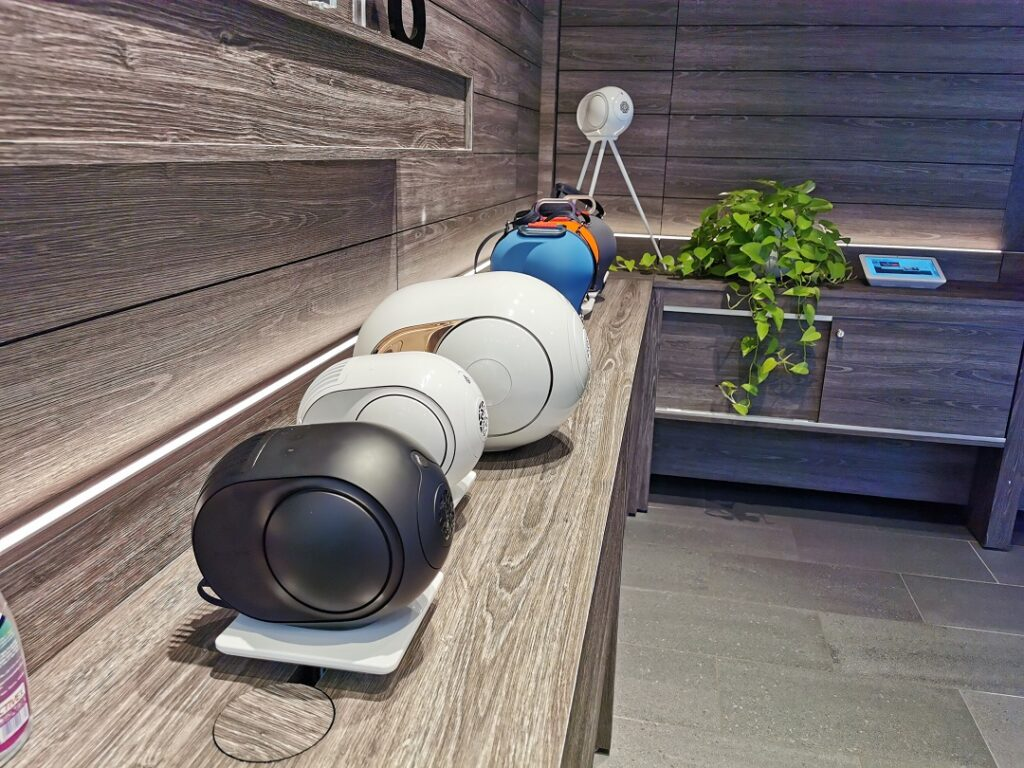Range of Devialet Wireless Speakers at b8ta store in Dubai Mall