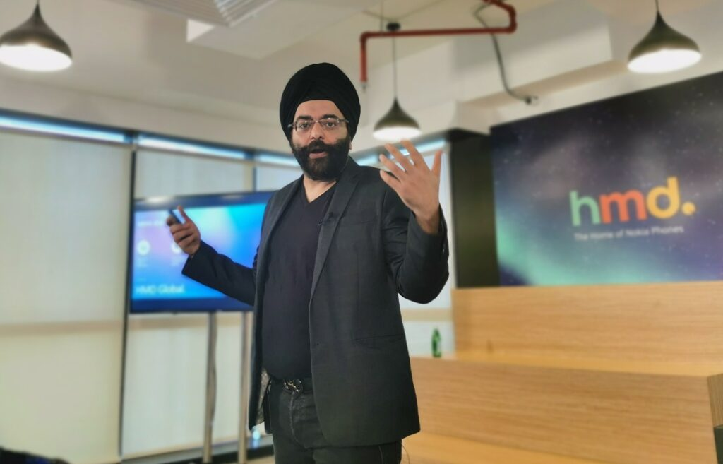 Sanmeet-Kochhar-Vice-President-for-HMD-Global-MENA-India-at-the-launch-of-Nokia-5.4-smartphone