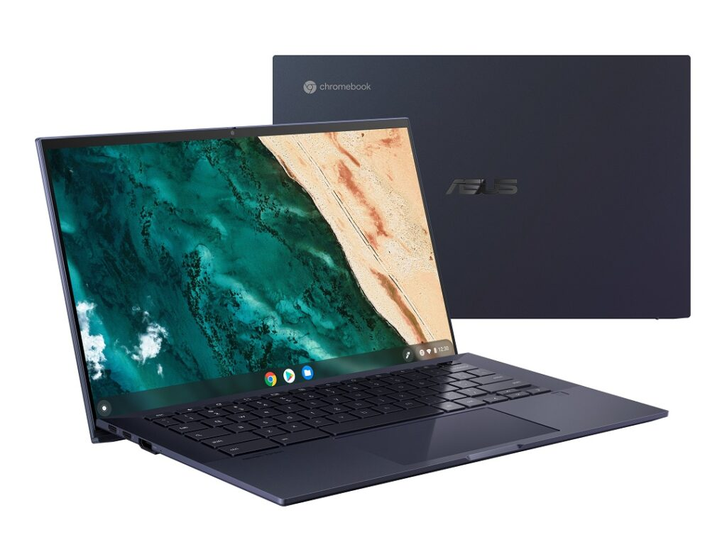 Asus Chromebook CX9- Model CX9400- Angled View