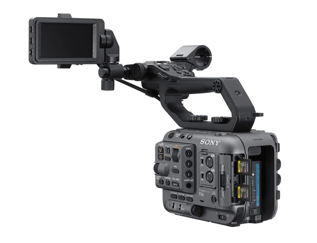 Sony FX6 full-frame 4K camera- left view