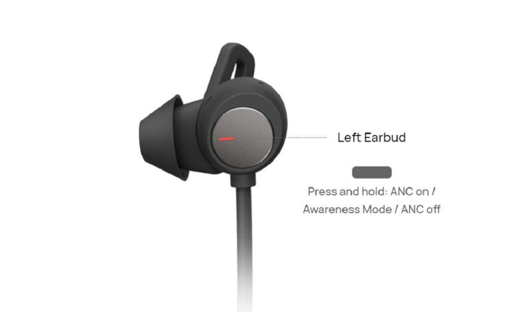 HUAWEI FreeLace Pro - Control on left earbud