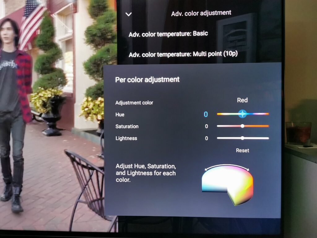 Sony BRAVIA KD-75X9500H- Advance Color Adjustment