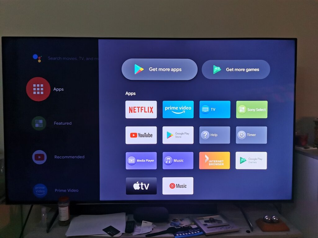 Sony BRAVIA KD-75X9500H- Android Google Play Apps, Game Apps & Apple TV