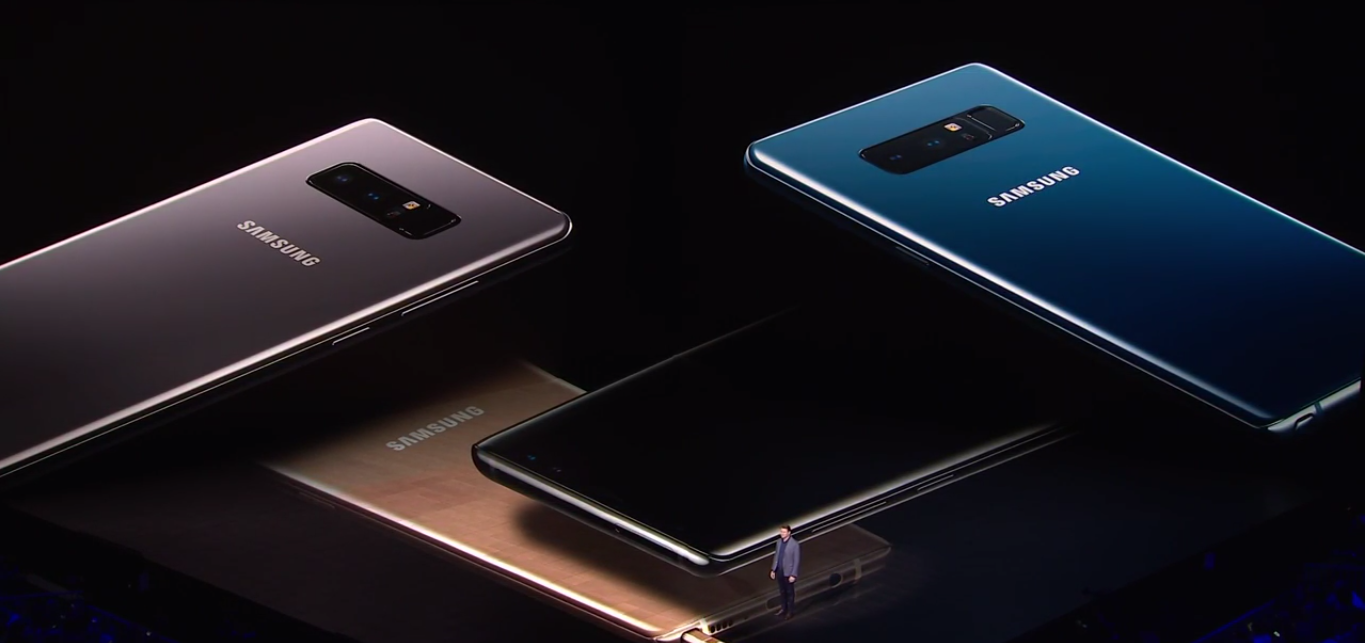 Samsung Galaxy Note 8 Colors
