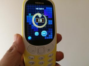 Snake game on Nokia 3310