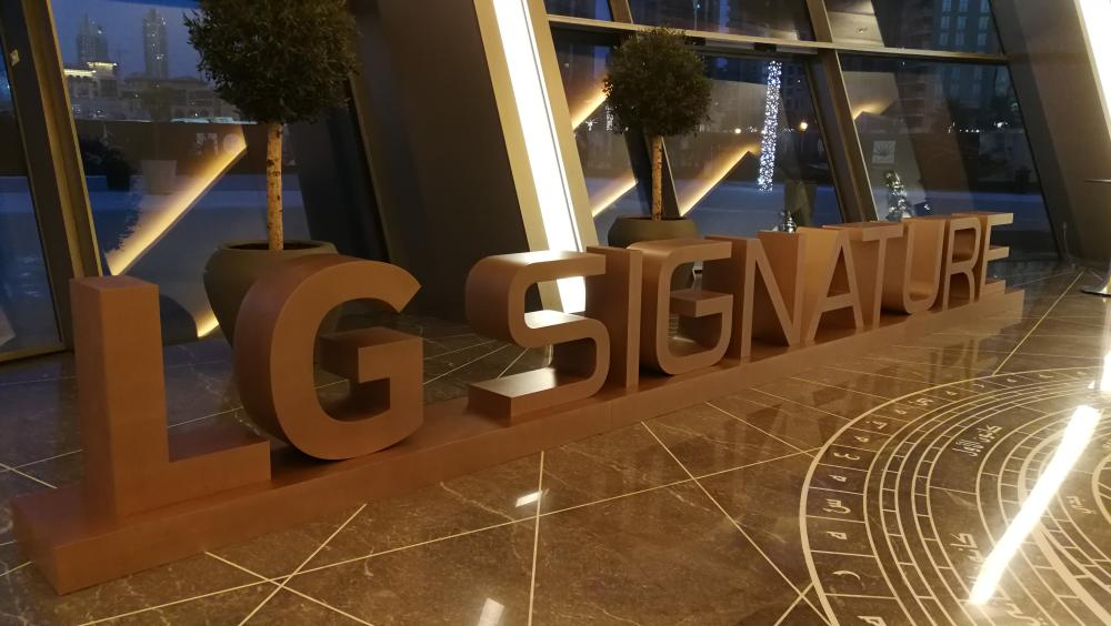 LG Signature showcases it's ultra premium brand of products at Dubai Opera