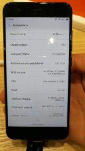 Xiaomi Mi 6-config