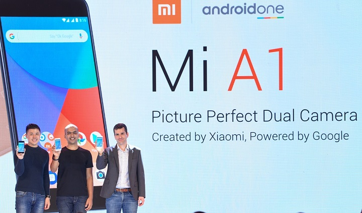 At the launch of Mi A1 in Delhi, India
