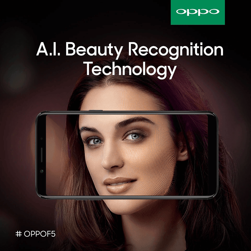 OPPO F5 with AI Beauty Mode
