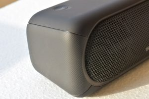 Sony XB40 wireless speaker -Silicone rubber covering adds nice touch and plastic frame give sturdiness