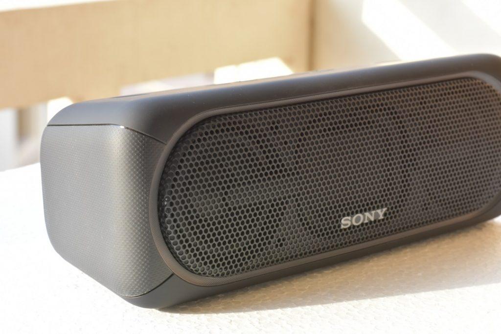 Sony XB40 wireless speaker -closeup