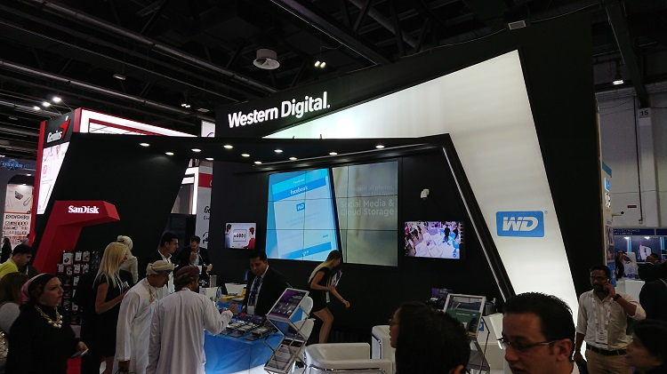 Western Digital stand in GITEX Technology Week