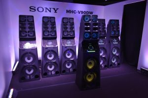 Sony's MHC_V90DW at the press conference