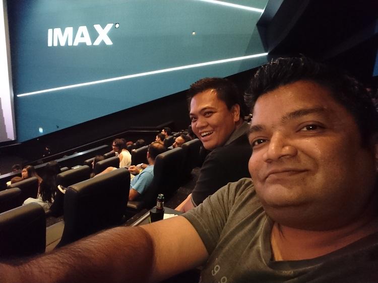 Sony Xperia XZ1 - Front camera- Selfie time in IMAX in DFC, Dubai
