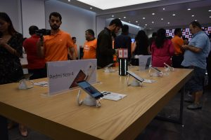 RedMI Note 4 and other smartphones at Xiaomi 2nd Store in City Center Deira