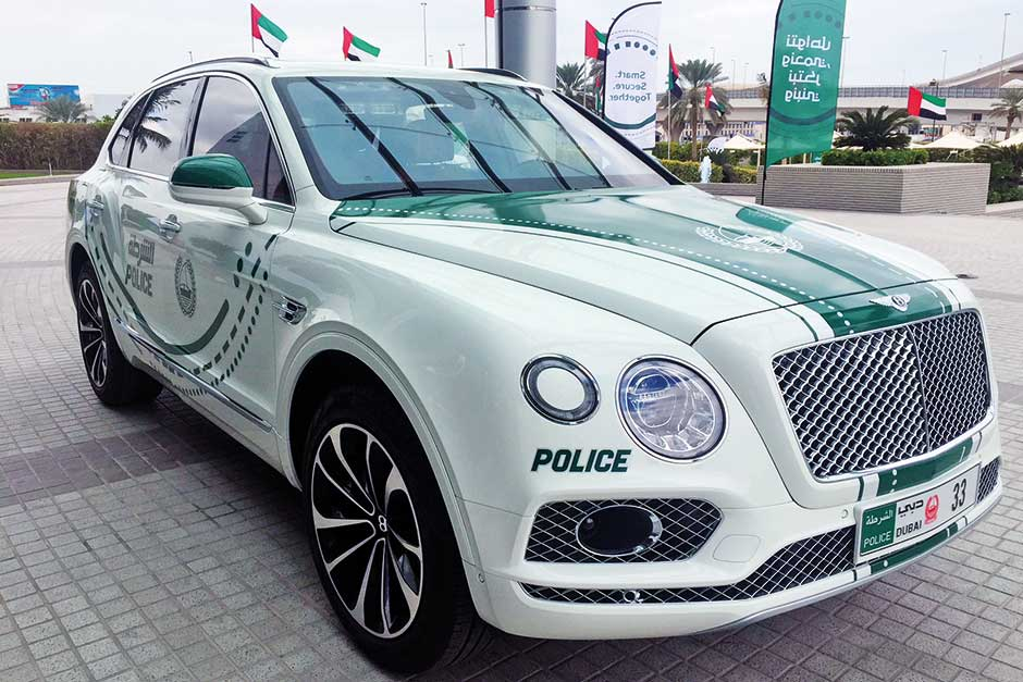 Dubai Police added a Bentley Bentayga 2018 to its supercars patrol fleet.