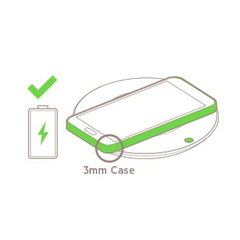 Belkin BOOST↑UP Qi Wireless Charging Pad can charge through 3mm case