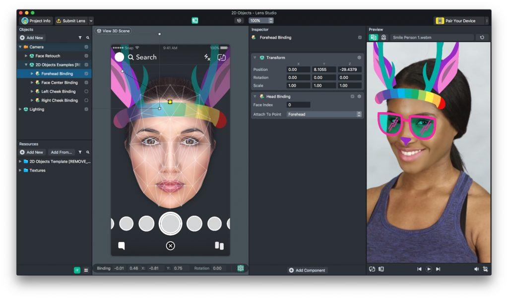 Face Templates 2D Studio Screenshot