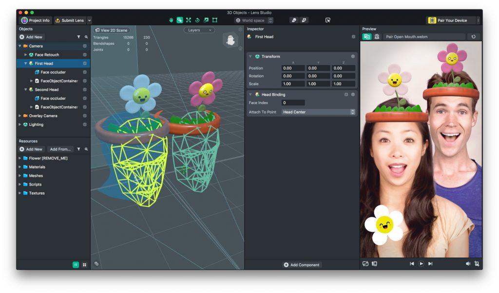 Face Templates 3D Studio Screenshot