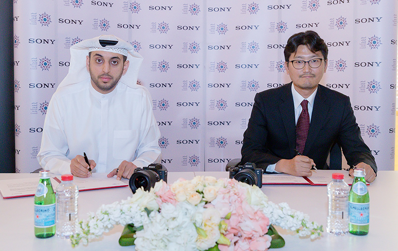 H.H Dr Rashid Khalfan Al Nuaimi, Executive Director of the Support Services Department at the National Media Council; and Fumihiro Zaima, Head of Market