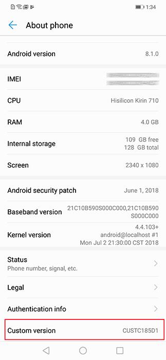 About-System-Huawei Nova-3i