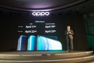 OPPO Reno Pre-oder and First Sale dates announced by Andy Shi, President MEA, OPPO