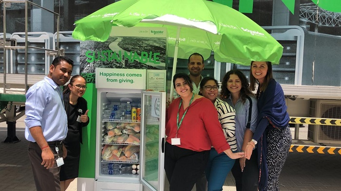 Schneider Electric has Set Up Two Solar-powered Ramadan Sharing Fridges in the UAE