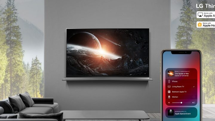 LG Electronics (LG) today announced that Apple AirPlay 2 and HomeKit on 2019 THINQ AI TVs