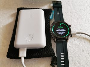 Anker-PowerCore-II-10000-Power-Bank-charging-Smart-Watch