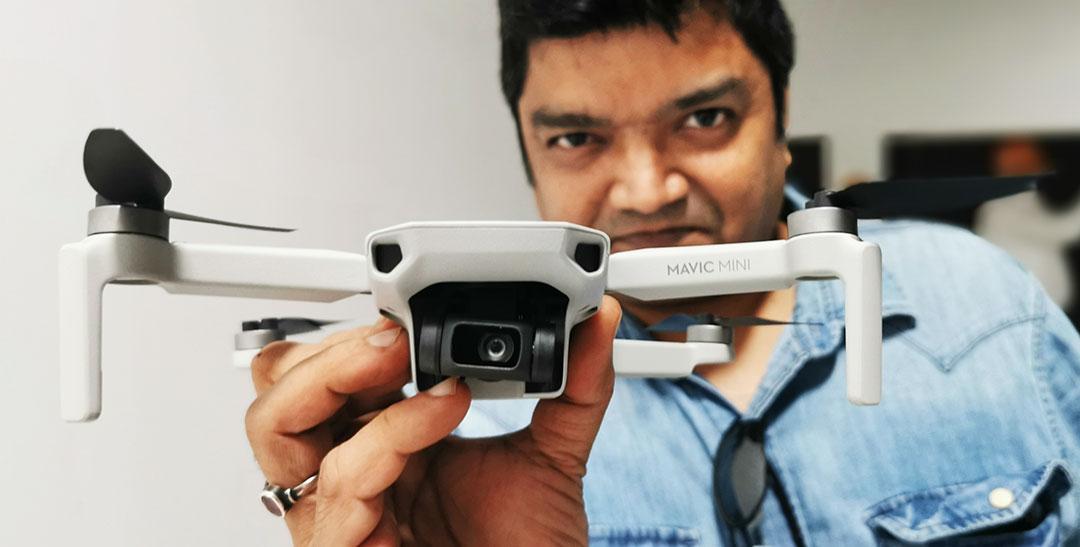 "DJI Showcased the Latest Lightest And Smallest Foldable Drone ""Mavic Mini"" for UAE Market"