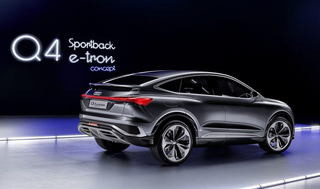 The Audi introduces Q4 Sportback e-tron concept