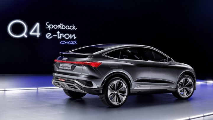 The Audi introduces Q4 Sportback e-tron concept